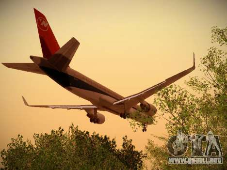 Boeing 757-251 Northwest Airlines para GTA San Andreas interior