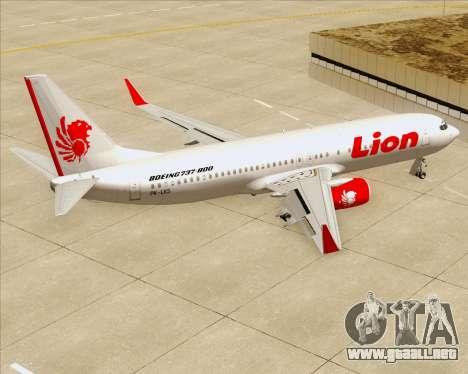Boeing 737-800 Lion Air para GTA San Andreas interior