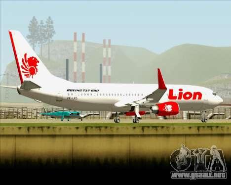 Boeing 737-800 Lion Air para la vista superior GTA San Andreas