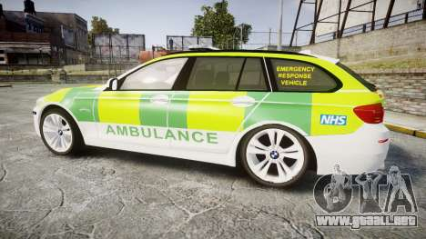 BMW 530d F11 Ambulance [ELS] para GTA 4 left