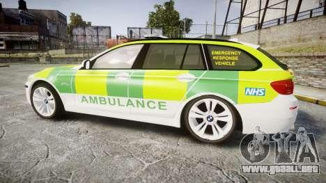 BMW 530d F11 Ambulance [ELS] para GTA 4 left