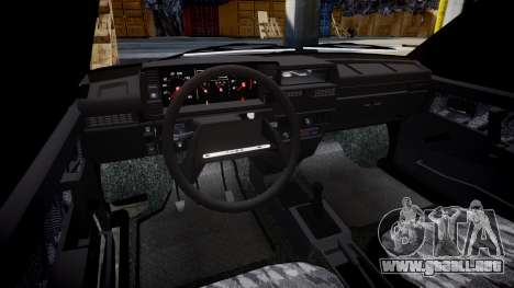 VAZ-2109 escorrentía para GTA 4 vista interior