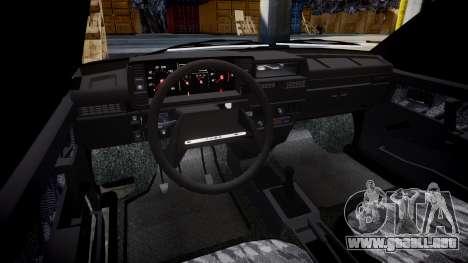 VAZ-2109 escorrentía para GTA 4 vista interior
