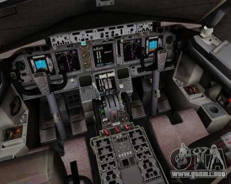 Boeing 737-800 World Travel Airlines (WTA) para GTA San Andreas interior