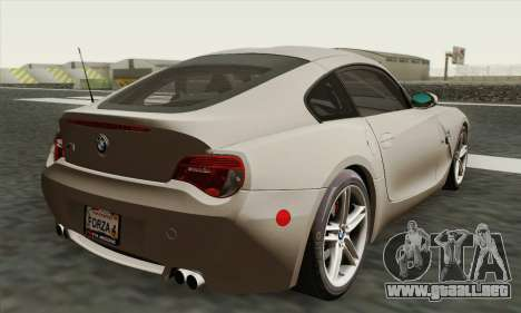 BMW Z4M Coupe 2008 Stock para GTA San Andreas left