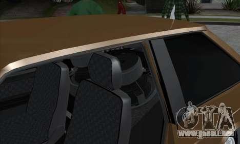 VAZ 2113 para GTA San Andreas vista hacia atrás