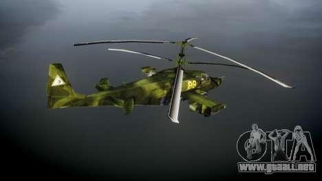 Ka-50 Black shark para GTA 4 Vista posterior izquierda