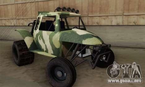 Military Buggy para GTA San Andreas vista posterior izquierda