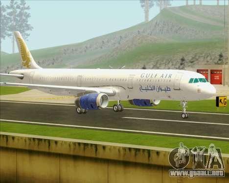 Airbus A321-200 Gulf Air para GTA San Andreas vista posterior izquierda