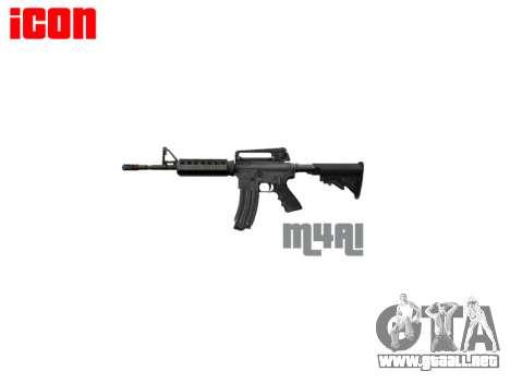 Automático de la carabina M4A1 para GTA 4 tercera pantalla