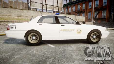 GTA V Vapid Cruiser LSS White [ELS] para GTA 4 left