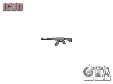 Kalashnikov modernizado (AKM) para GTA 4 tercera pantalla