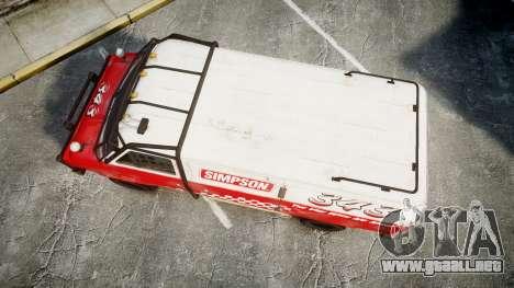 Kessler Stowaway Simpson para GTA 4 visión correcta