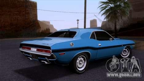 Dodge Challenger 426 Hemi (JS23) 1970 (HQLM) para GTA San Andreas left