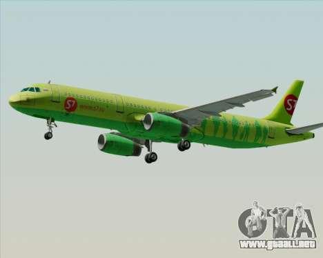 Airbus A321-200 S7 - Siberia Airlines para vista inferior GTA San Andreas