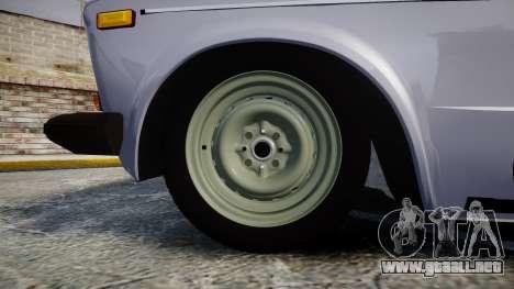 VAZ-2106 seis para GTA 4 vista hacia atrás