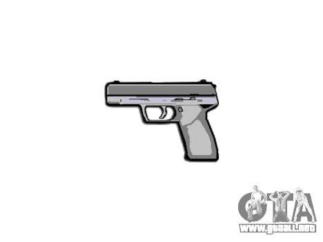 Pistola Taurus 24-7 negro icon3 para GTA 4 tercera pantalla
