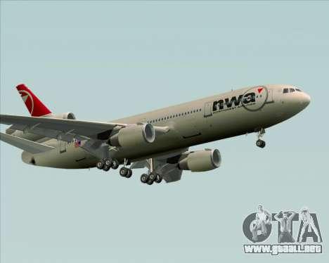 McDonnell Douglas DC-10-30 Northwest Airlines para la vista superior GTA San Andreas