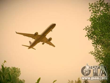 Boeing 757-224 United Airlines para vista inferior GTA San Andreas