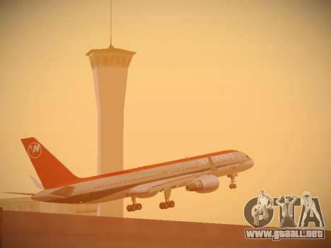 Boeing 757-251 Northwest Airlines para la vista superior GTA San Andreas