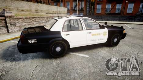 Ford Crown Victoria LASD [ELS] Marked para GTA 4 left