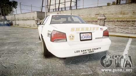 GTA V Vapid Cruiser LSS White [ELS] Slicktop para GTA 4 Vista posterior izquierda