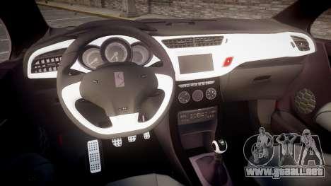 Citroen DS3 Convertible para GTA 4 vista hacia atrás