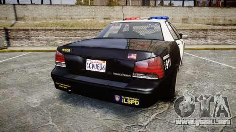 GTA V Vapid Cruiser LSP [ELS] para GTA 4 Vista posterior izquierda