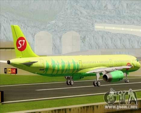Airbus A321-200 S7 - Siberia Airlines para GTA San Andreas vista hacia atrás
