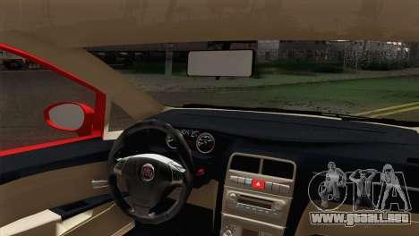 Fiat Siena para GTA San Andreas vista posterior izquierda