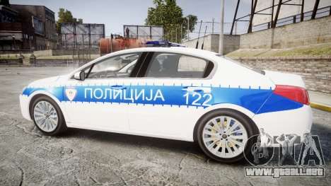 Peugeot 508 Republic of Srpska [ELS] para GTA 4 left