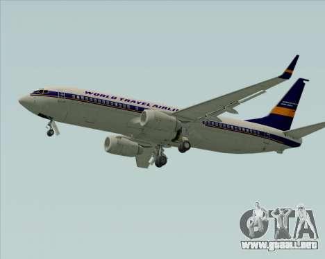 Boeing 737-800 World Travel Airlines (WTA) para GTA San Andreas vista hacia atrás