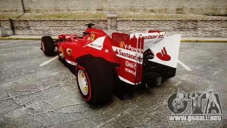 Ferrari F138 v2.0 [RIV] Massa TSSD para GTA 4 Vista posterior izquierda