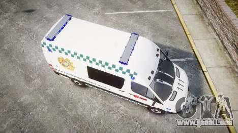 Mercedes-Benz Sprinter ARM Ambulance [ELS] para GTA 4 visión correcta