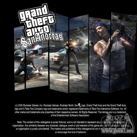 Las pantallas de carga para GTA San Andreas sucesivamente de pantalla