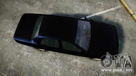 GTA V Vapid Cruiser Police Unmarked [ELS] Slick para GTA 4 visión correcta