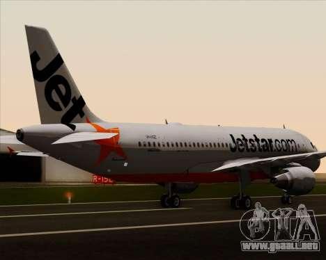 Airbus A320-200 Jetstar Airways para las ruedas de GTA San Andreas