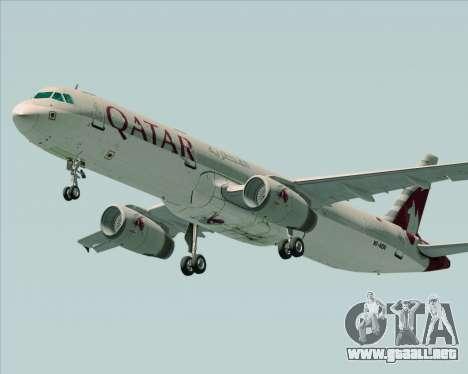 Airbus A321-200 Qatar Airways para la visión correcta GTA San Andreas