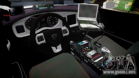 Dodge Charger RT 2013 PS Police [ELS] para GTA 4 vista hacia atrás