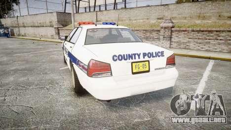 GTA V Vapid Cruiser LP [ELS] para GTA 4 Vista posterior izquierda