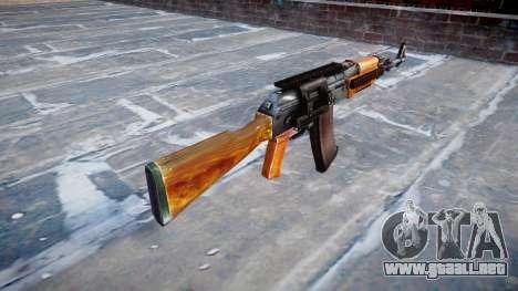 Kalashnikov modernizado (AKM) para GTA 4 segundos de pantalla