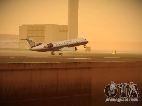 Bombardier CRJ-700 United Express para vista inferior GTA San Andreas