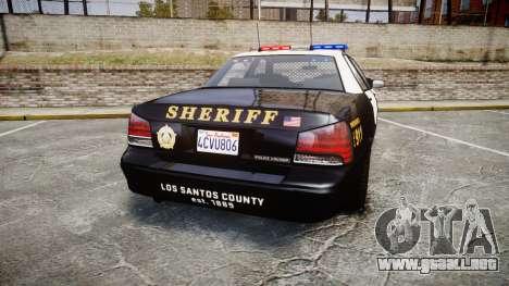 GTA V Vapid Cruiser LSS Black [ELS] para GTA 4 Vista posterior izquierda