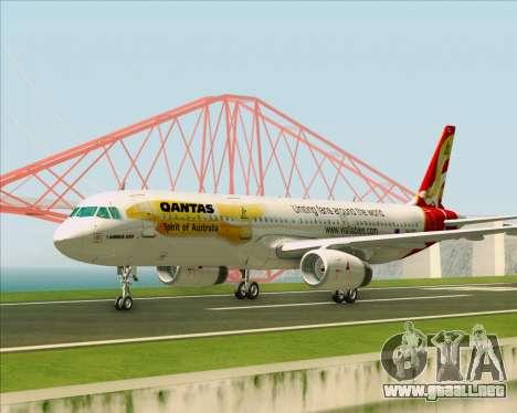Airbus A321-200 Qantas (Wallabies Livery) para visión interna GTA San Andreas