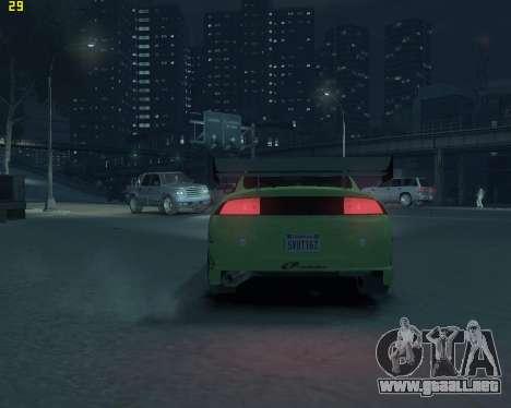Mitsubishi Eclipse from Fast and Furious para GTA 4 vista hacia atrás