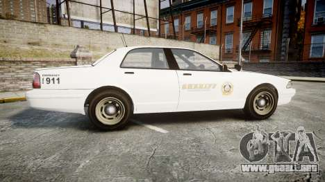 GTA V Vapid Cruiser LSS White [ELS] Slicktop para GTA 4 left