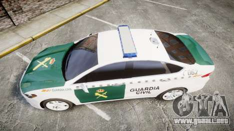 Ford Mondeo 2014 Guardia Civil Cops [ELS] para GTA 4 visión correcta