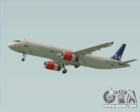 Airbus A321-200 Scandinavian Airlines System para la visión correcta GTA San Andreas