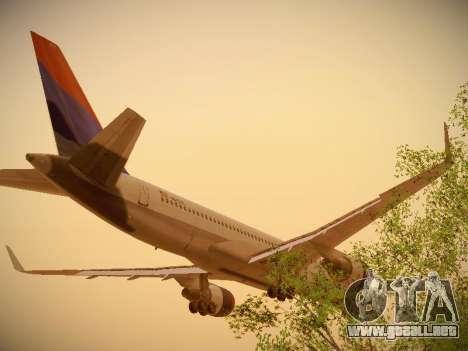 Boeing 757-232 Delta Airlines para GTA San Andreas vista hacia atrás