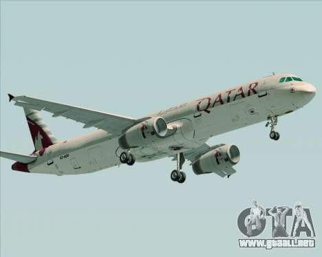 Airbus A321-200 Qatar Airways para GTA San Andreas left